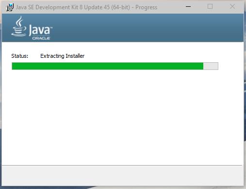 Installation in progress screenshot