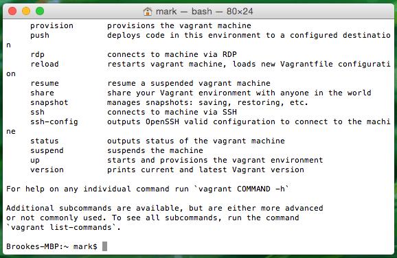 Mac OS X Terminal Screenshot