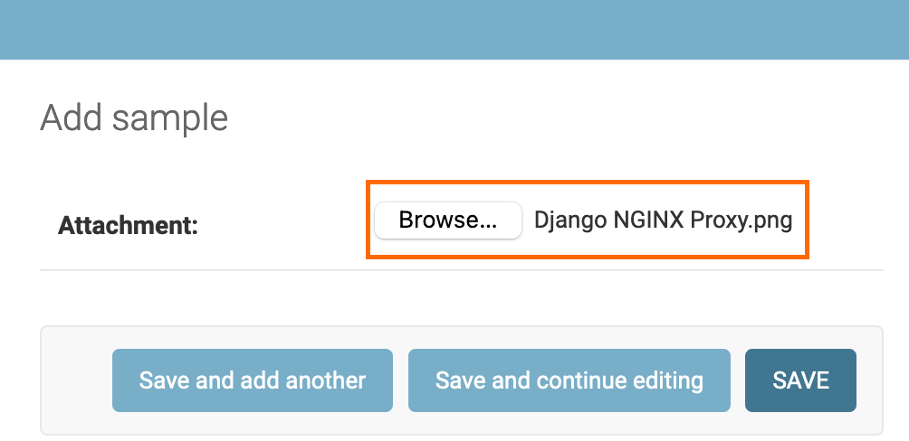 Screenshot of choosing a file to upload.
