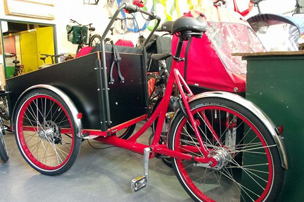 Parked cargo bike