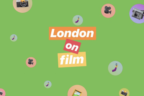 Green background with film emojis