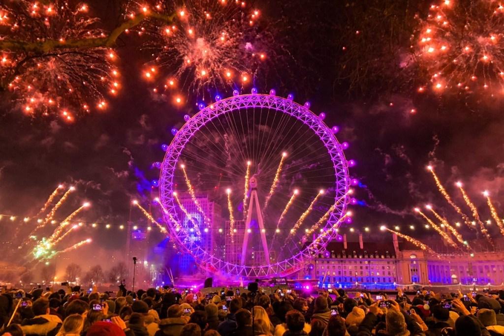 New year's eve London eye South Bank
