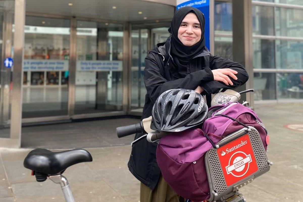 Photo of Habiba with a Santander Cycle