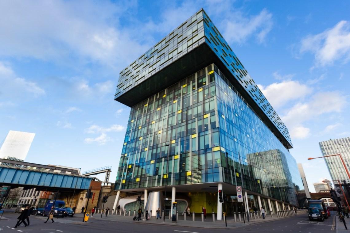 The corner of Transport for London's Palestra building