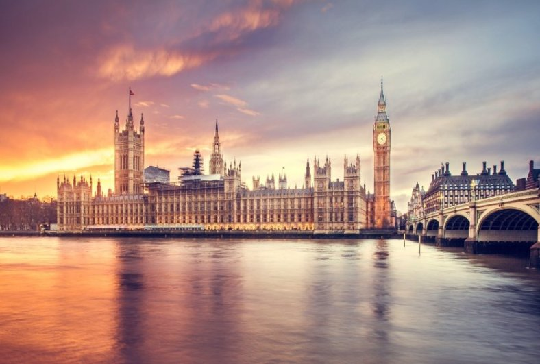 The Palace of Westminster on Thames River