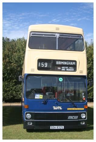 Preserved WMPTE MCW Metrobus 6832 (SDA 832S) at Showbus, 16 September 2007