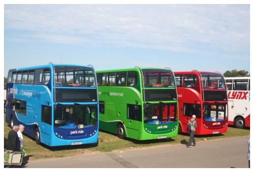 Three Stagecoach Cambus Enviro400s at Showbus, 16 September 2007)