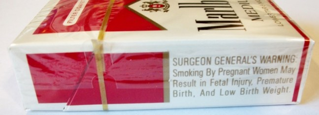 cigarette warnings