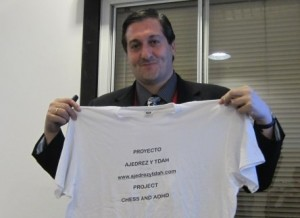 Luis Blasco presented on chess for boys diagnosed with ADHD - which in Spanish is abbreviated TDAH
