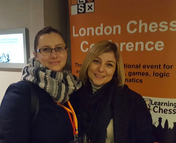 Agnieszka Milewska and Anastasia Sorokina at the London Chess Conference