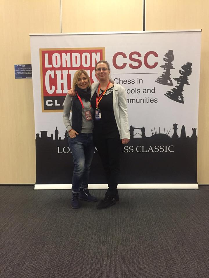 Anastasia Sorokina and Agnieszka Milewska at the London Chess Classic