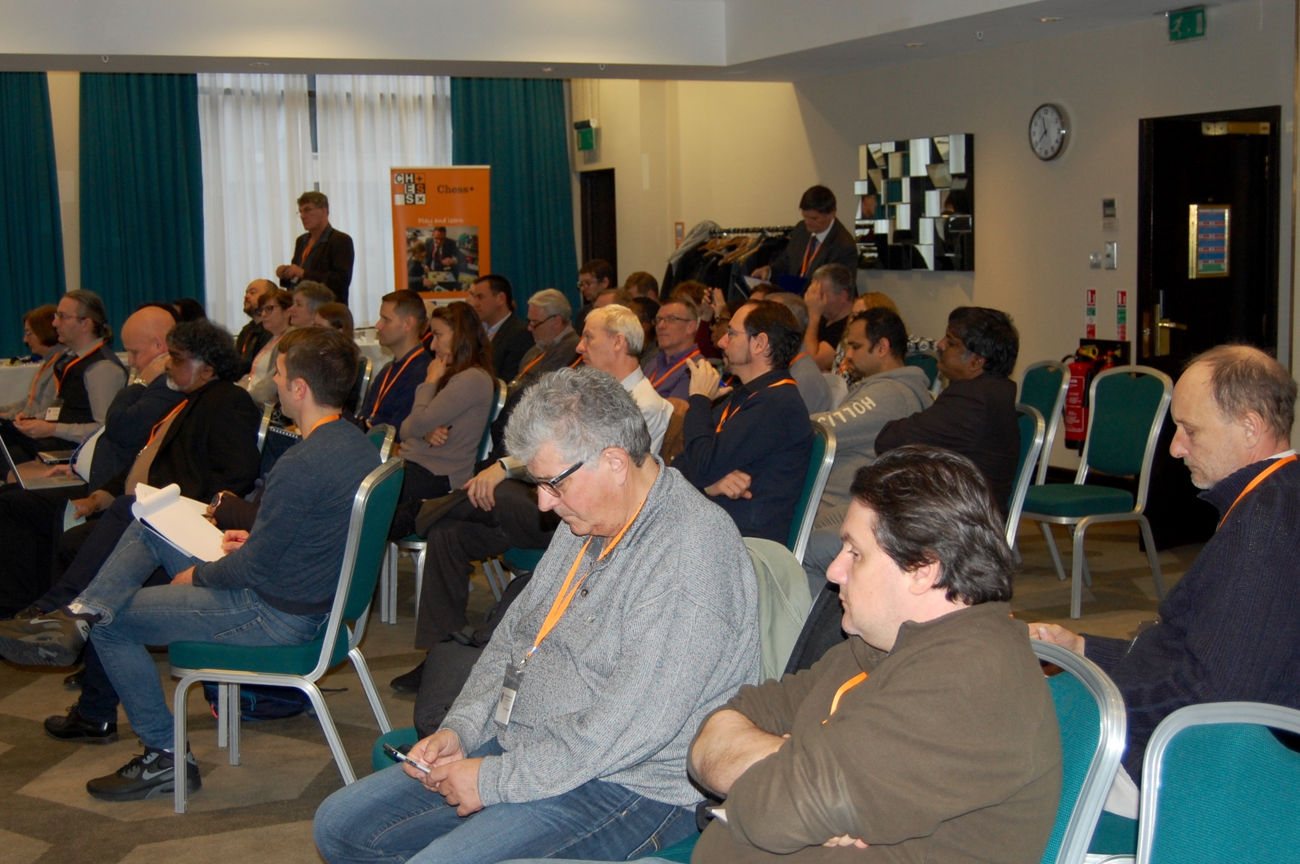 Expectant seminar room at the London Chess Conference