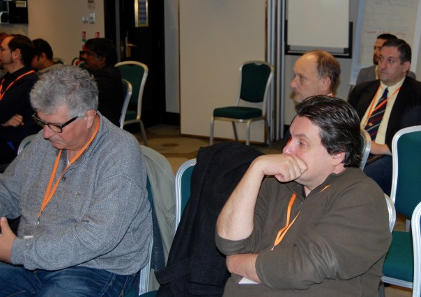 Jorge Silva, Carlos Santos, Alessandro Dominici, Luis Blasco at the London Chess Conference