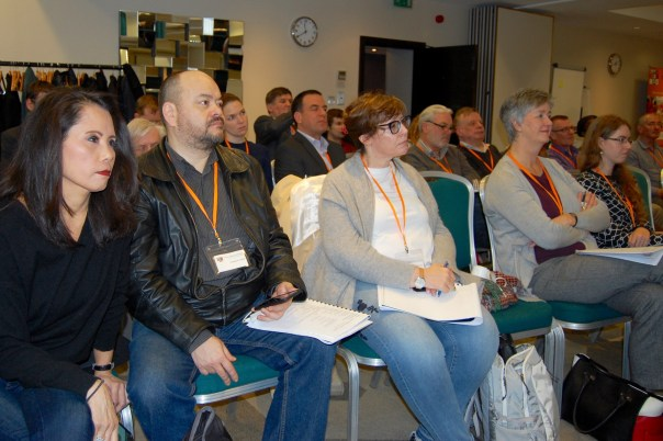 Front row at the London Chess Conference: Jonathan Tisdall, Sophia Rohde, Sarah Kett, Rebecca Selkirk
