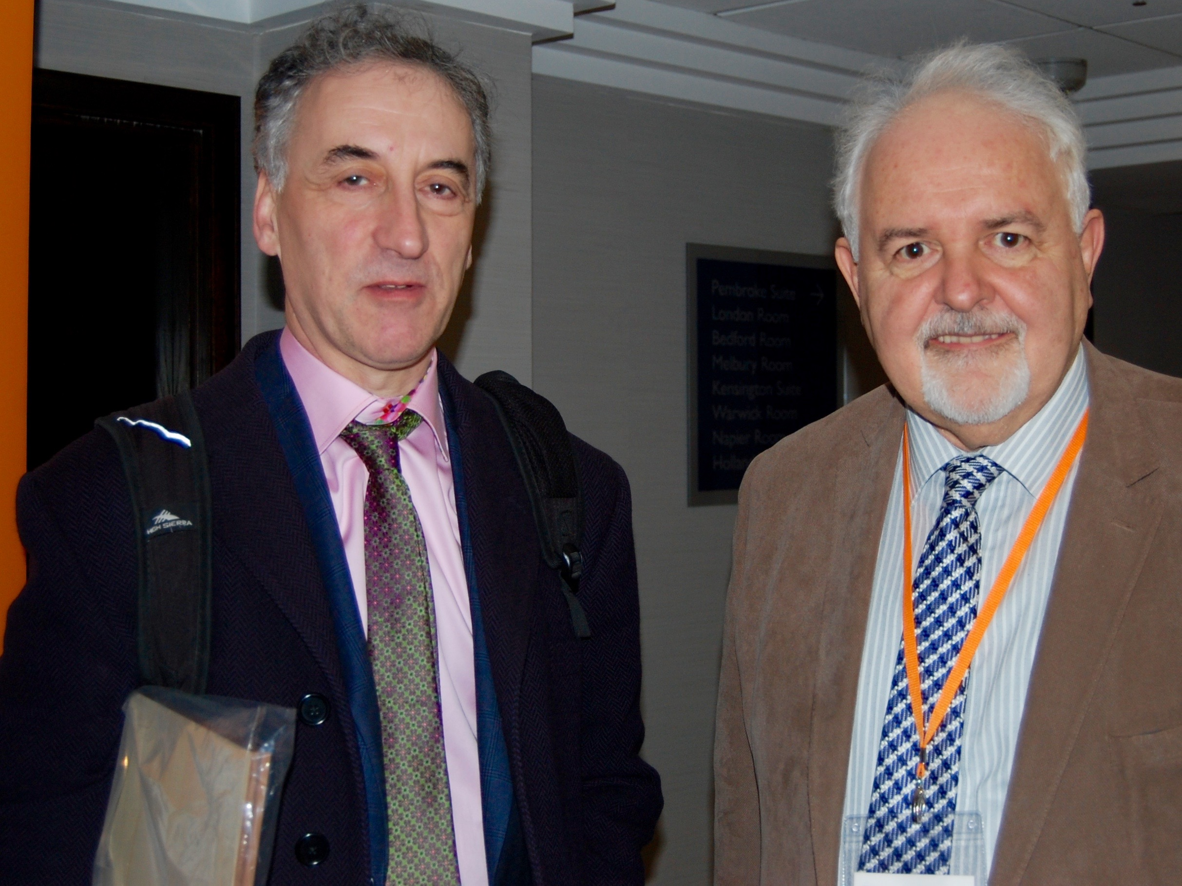 Malcolm Pein and John Foley at the London Chess Conference
