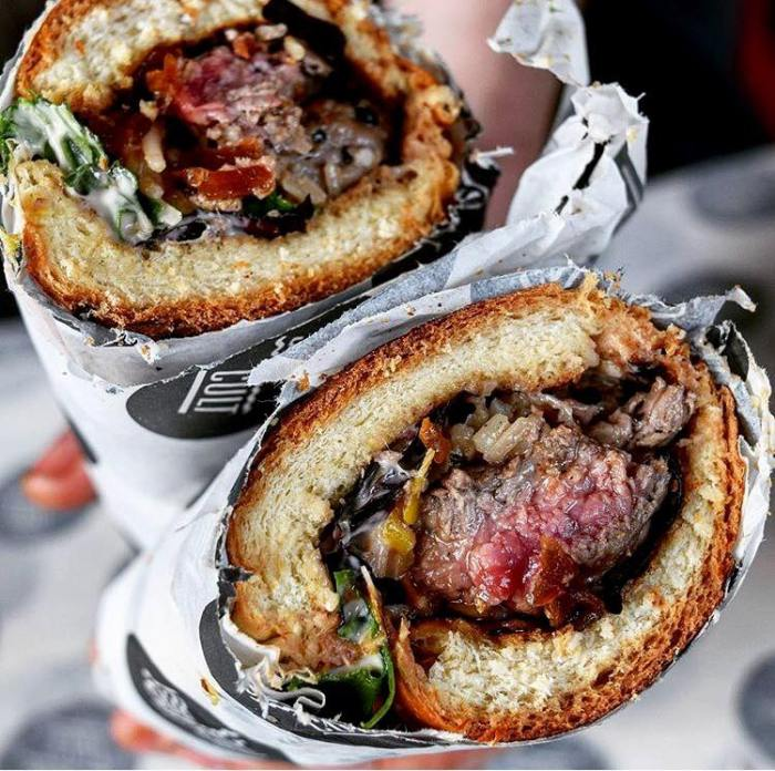 A Steak Sub from Sub Cult at Leather Lane Market