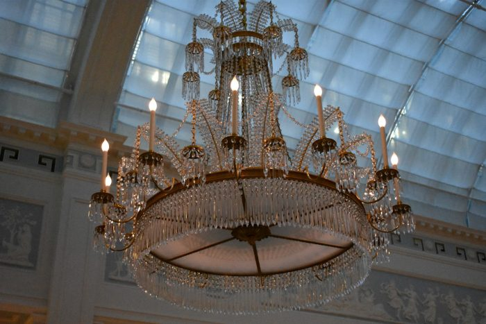 A Chandelier at Celeste at The Lanesborough