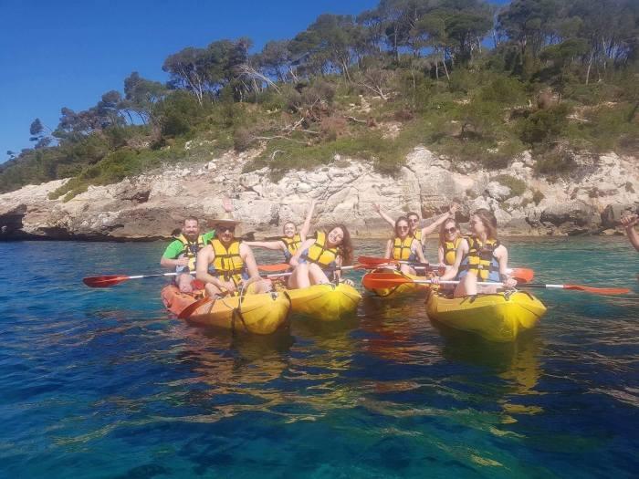 Kayaking in Menorca