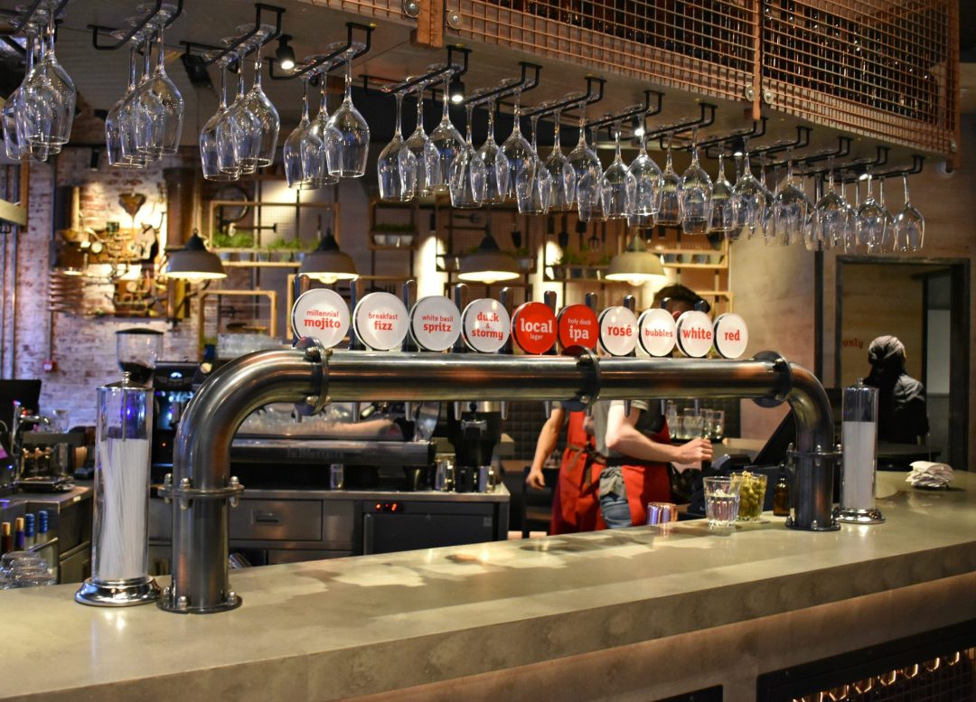 Taps and Tails at Duck and Waffle Local