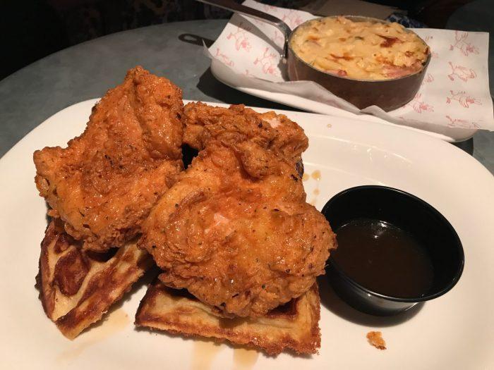 Chicken on Waffles at Absurd Bird