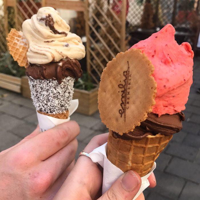 Ice-cream at Cremeria Emilia, Bucharest