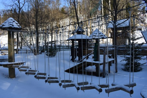 The Obstacle Course in the Snow