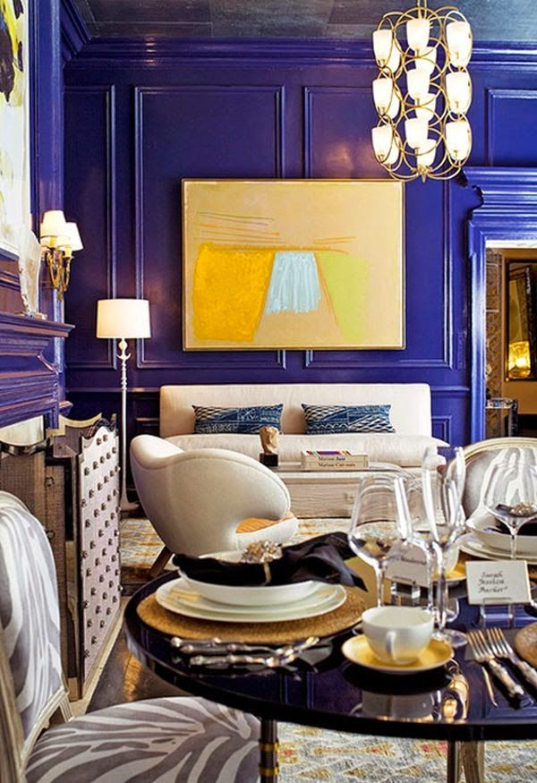Rich Lacquered Blue Walls