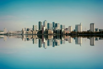 The London Rental Market - Canary Wharf Skyline by Simon Hadleigh-Sparks