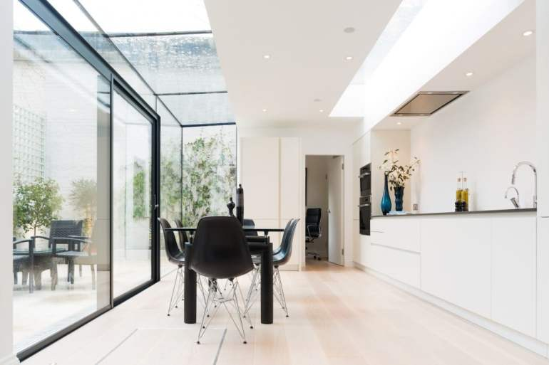 Glass Box Extension - Lexham Gardens Knightsbridge London