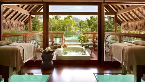 7 Amazing Ocean View Bathrooms That Will Have You Packing Your Suitcase - Four Seasons, Bora Bora