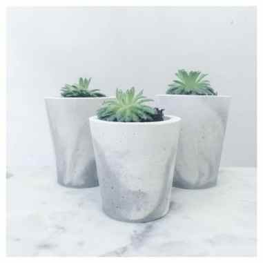 Concrete and marble planters