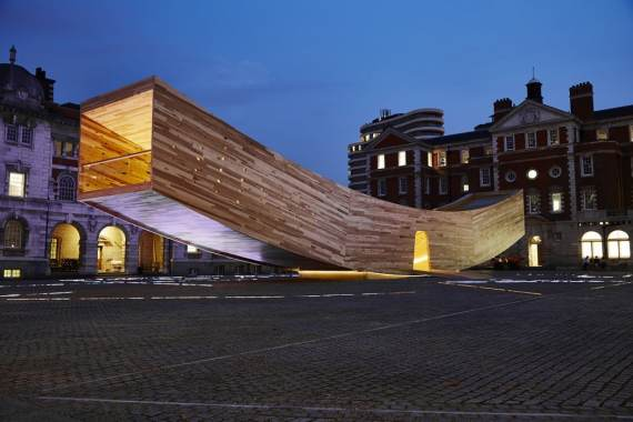 """London Design Festival Highlights - """"The Smile"""" at the Chelsea College of Art Rootstein Hopkins Parade Ground"""