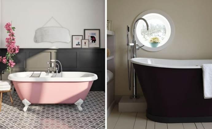9 ways to spruce up your bathroom- Coloured Baths