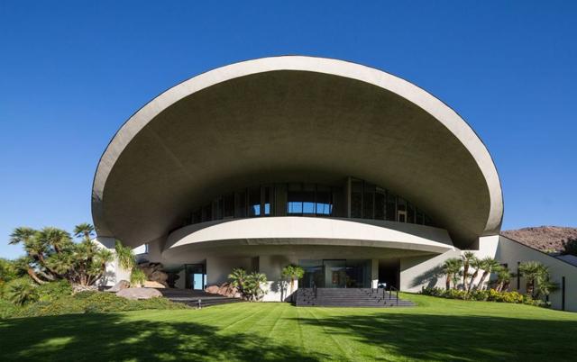 5 Stunningly Unique Roof Designs - Bob Hope Estate - Designed By Achitect John Lautner.