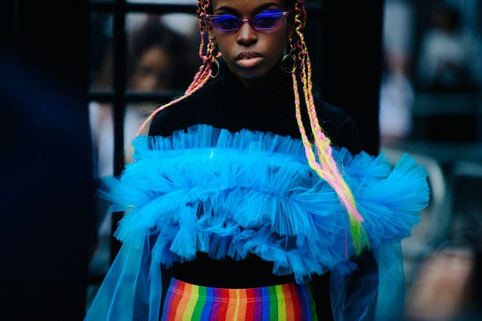 Stylish Accessories For Autumn 2018 - Street style during London Fashion Week on Friday, September 14, in London. Photo by Adam Katz Sinding for W magazine
