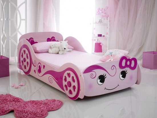 Benefit Of A Good Bed For Kids - The Parisot Higher Pink Princess Car Racer Bed By Artisan - Image From BedKingdom.co.uk