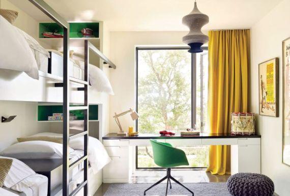 Design Tips: A Teens Bedroom For Sleep, Study And Socialising - Image Via decoraid.com