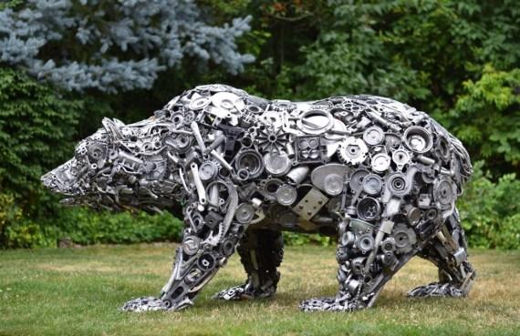 BrianMock.com recycled sculpures - Bear