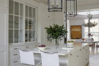 Stylish White Kitchen And Dining Room