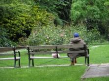 Enjoying the garden, Gibson Square
