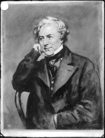 Thomas Milner Gibson, unknown date, portrait in Hardwick House