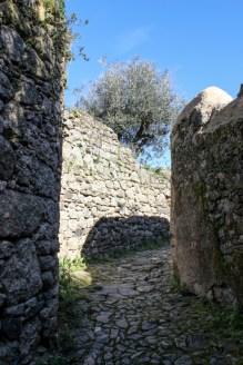 The NW road into the Castle, Castelo de Vide
