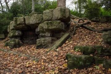 Stone outcrop, Battersea Park