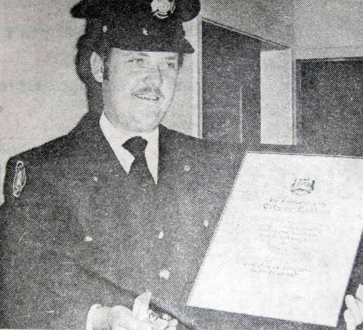 Ken Gilders awarded London's medal of Bravery