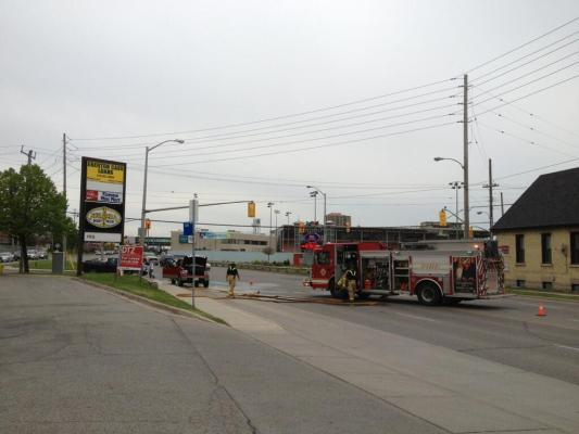 Truck fire on Florence at Egerton. Photo taken by Travis Dolynny @travisdolynny