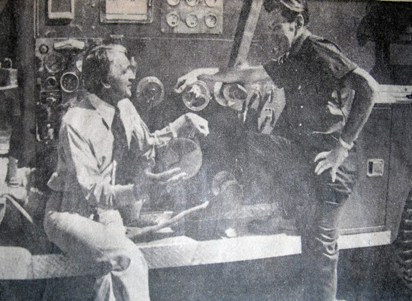 Dr. Peter Rechnitzer with London Firefighter Earl Smith