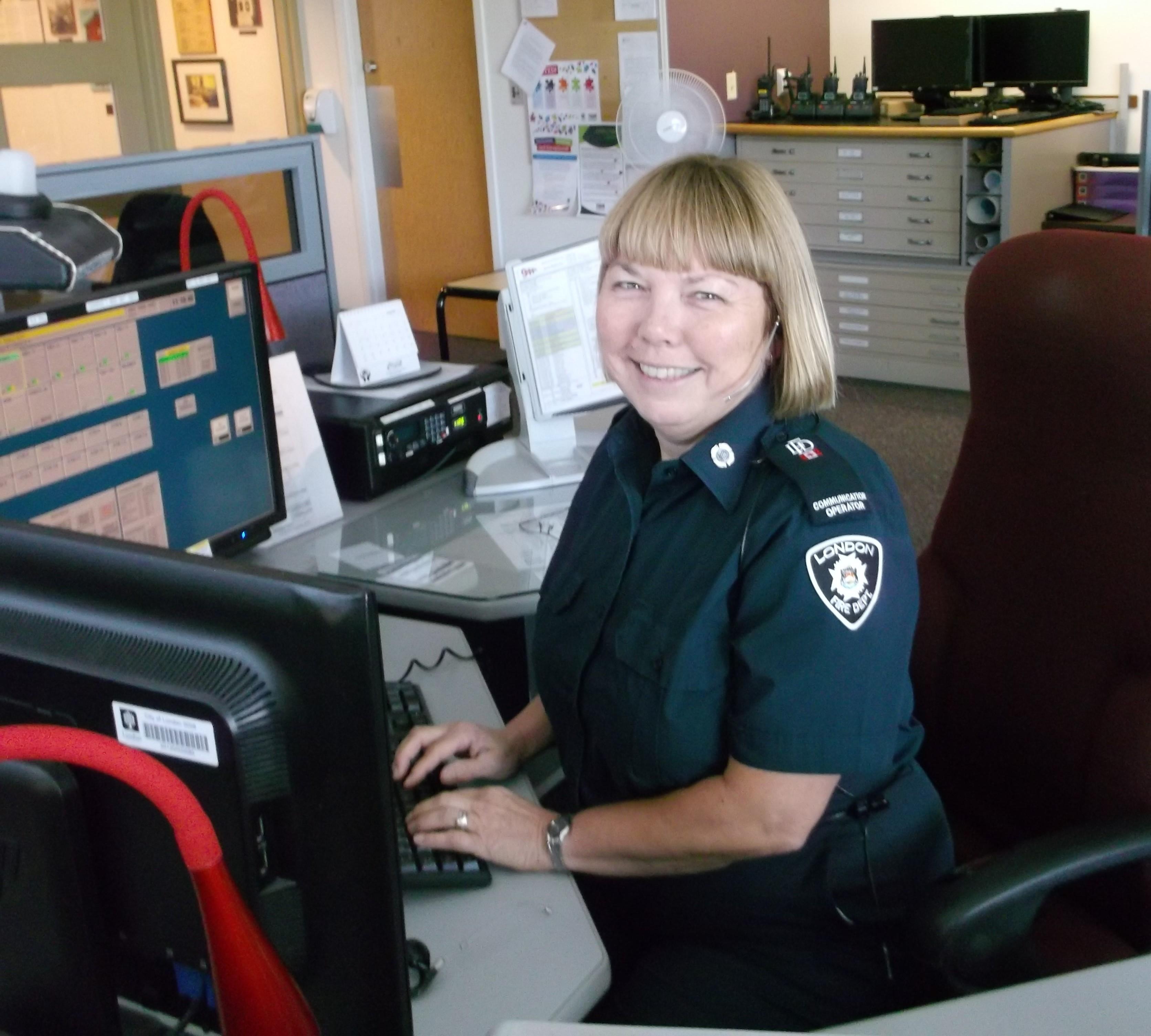 Communications Operator Mary Ann Scherer