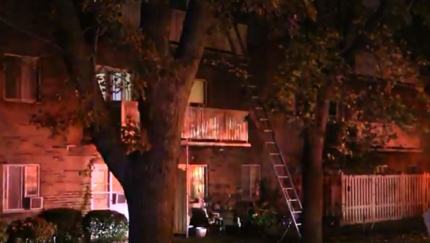 Firefighters battle apartment blaze