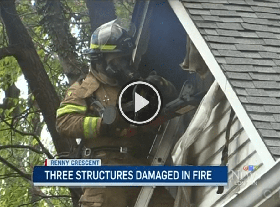 Cooking fire damage two homes