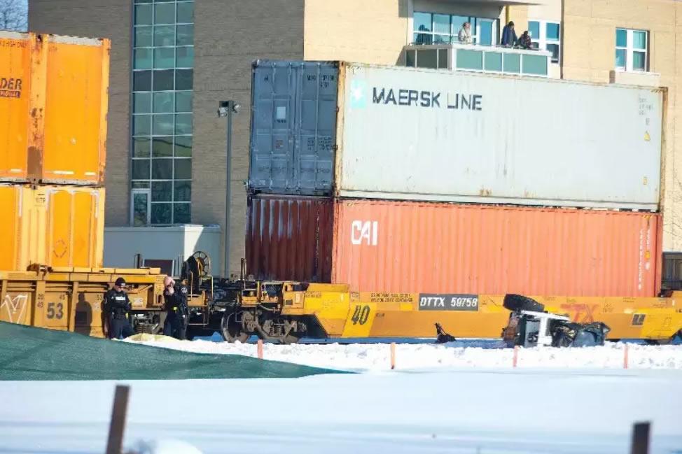 Train tragedy kills sidewalk plower